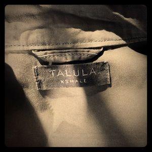 Talula faux leather sleeve Military Jacket